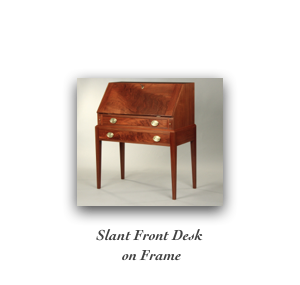 Slant Top Desk on Frame Fine Reproduction Desk nh, maine, massachucetts, new york, Pa, Rhode Island, Connecticut, maryland,