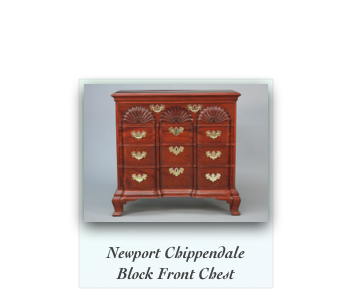 Newport Chippendale Block Front Chest of drawers Antique Reproduction Goddard Townsend Furniture Maker