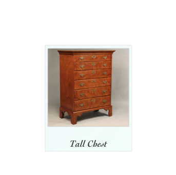 Reproduction Chest of Drawers Tiger Maple