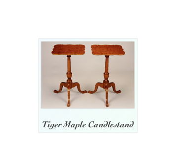 Tiger Maple Side Tables