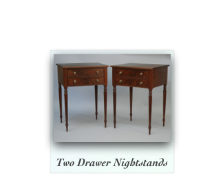 Reeded Leg Nightstands made of solid walnut